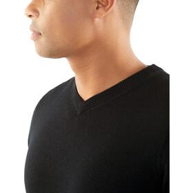Icebreaker Quailburn V Sweater Herre black